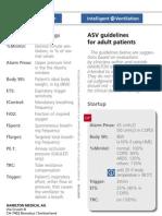ASV Guidelines Card