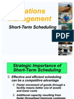 Short Term Scheduling