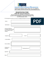 IFSSO 20th General Conference Registration Form