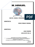 Digital Signal Processing Lab Manual