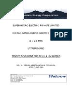 Tech. Specifications (Civil & HM)