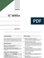 Icom Ic-m45a Owners Manual