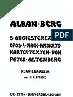 255083 Berg Alban Altenberg Lieder Op 4 Piano Tr [1]