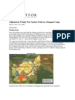 Afghanistan Weekly War Update Raid on a Haqqani Camp