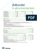 i-BedrijfsBundel 2010 Tarievenblad