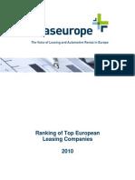 Leas Europe Ranking Survey 2010