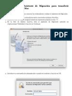 Cómo utilizar el Asistente de Migración para transferir archivos desde otro Mac