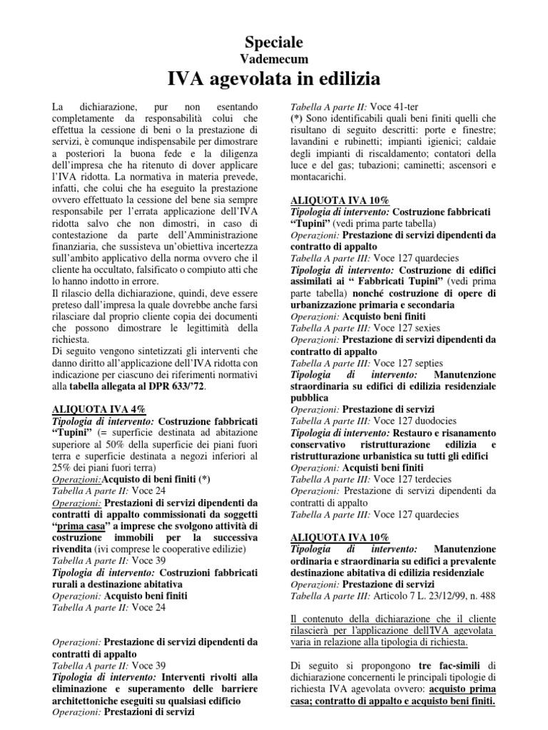Edilizia Iva 10 With Edilizia Iva 10.