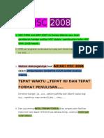 Pesan TIM HSC 2008(Buka Yaa..)