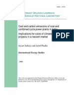 Cost of Coal Plant in India