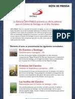 Nota de Prensa Camino de Santiago