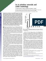 Abundant Ammonia in Primitive Asteroids - Exobiology