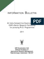 Information Bulletin Srf Pgs 2011