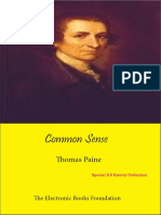 Common Sense -Thomas Paine
