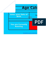 Age Calculator as on Today