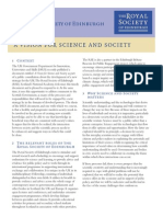 A VISION FOR SCIENCE AND SOCIETY