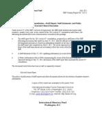 Le rapport annuel du FMI sur la France / version intégrale
