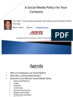 Creating a Social Media Policy for Your Business 072511 FINAL