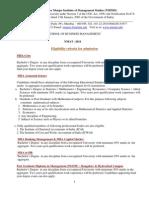 Eligibilty Criteria NMAT 2011