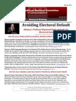 Avoiding Electoral Defaul