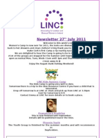 Newsletter 27th July 2011