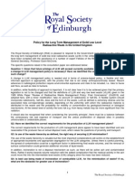 Policy for the Long Term Management of Solid Low Level Radioactive Waste in the United Kingdom