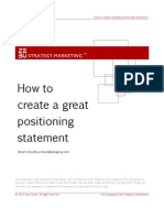 Zebu How to Create a Great Positioning Statement