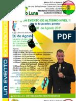 Guillermo Luna en Mexico DF, 19 y 20 de Agosto
