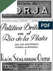 Cuaderno de FORJA Número I- Política Británica en el Río de la Plata