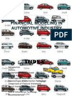 Financial Modeling of Automobile Industry(Maruti Suzuki)