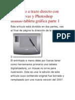 Entintado a trazo directo con Opencanvas y Photoshop usando tableta gráfica parte 1