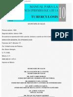 Man 10 Manual Para La Vigil an CIA Epidemiologica de La Tuberculosis
