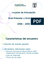 Power Point Articulacion JarDin PrimAria 20082009