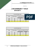 PROVAS DE AFERIÇÃO 1º CEB_10-11