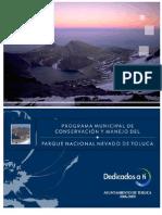 Programa municipal de conservación y manejo del Parque Nacional Nevado de Toluca 2006-2009