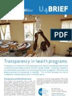 Brief 9 Transparency in Health Programs
