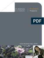 Regents Business School London Postgraduate Prospectus 0809