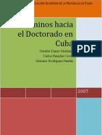Libro Doctorado en Cuba