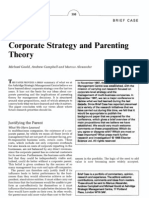 Corporate Strategy and Parenting Theory_M Goold, A Campbell, M Alexander
