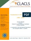 Ecuadorians in the United States, 1980 - 2008