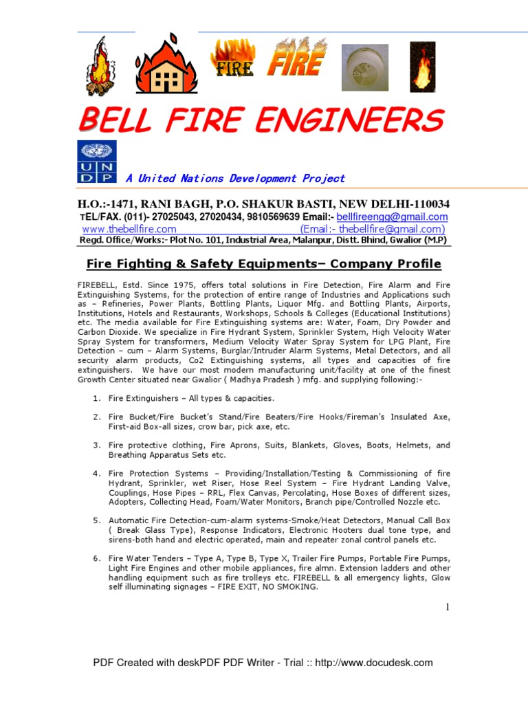 FIREBELL Company Profile | Fire Sprinkler System | Fires