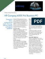 HP Compaq 6005 Pro Business PC Data Sheet Mar Update