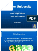 Introduction to Global Strategic Planning and Market Expansion