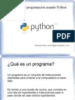 Curso Aprender programación usando Python