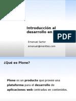 Introducción al desarrollo en Plone