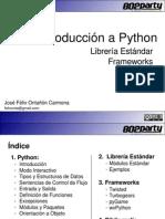 Introducción a Pythona Librería Estándar Frameworks