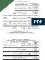 Aug_Sept2011 Class Schedule