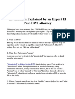 Intoxication Explained by an Expert El Paso DWI attorney