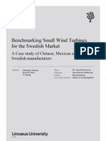 Benchmarking SWT for the Swedish Market. a Case Study of Chinese, Mexican and Swedish Manufacturers