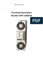 Delta DPR-1200B-48 Functional Description Manual